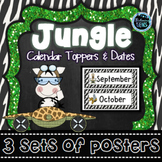 Jungle Theme Classroom Decor - Calendar Set