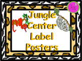 Jungle Center Label Posters