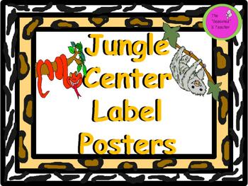 Jungle Center Label Posters
