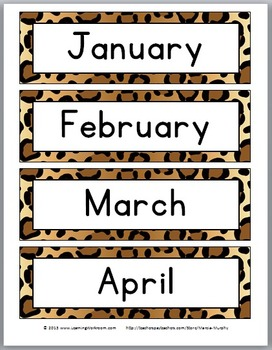 Days of Week Labels & Months of Year Labels - Jungle Theme Classroom Decor