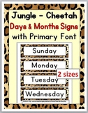 Days of Week Labels & Months of Year Labels - Jungle Theme