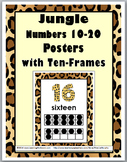 Jungle Theme Numbers 11-20 Posters with Ten Frames - Teen Numbers