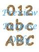 Jungle Cheetah Spots Alphabet Clip Art Set