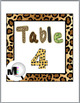 Jungle Theme Classroom Decor with Cheetah Design Table Numbers