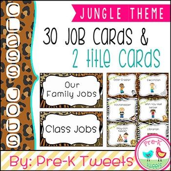 Classroom Jobs - Jungle Theme