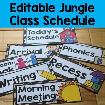 Jungle Class Schedule {Editable}