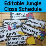 Editable Jungle / Safari Class Schedule