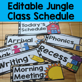 Editable Jungle / Safari Class Schedule