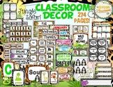 Jungle Safari Theme Classroom Decor Bundle (with Editable