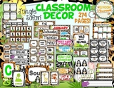 Jungle Safari Theme Classroom Decor Bundle (with Editable