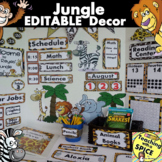 Jungle Zoo Classroom Themes Decor Bundles EDITABLE 30% OFF