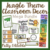 Jungle Classroom Decor Mega Bundle