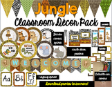 Jungle Classroom Decor Bundle (Editable)