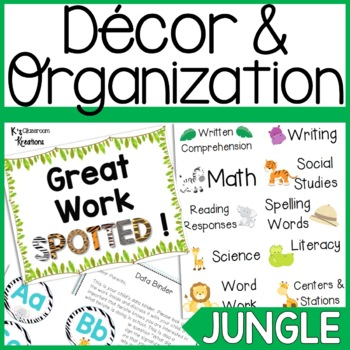 Jungle Classroom Decor and Organization Bundle