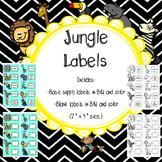 """Jungle Classroom Labels (2"""" x 4"""")"""