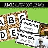 Safari Classroom Library Tub Labels