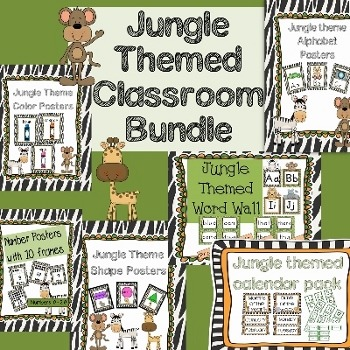 Jungle Themed Classroom Bundle Pack