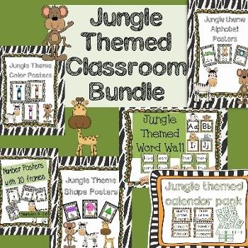 Jungle Themed Classroom Bundle Pack