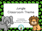 Jungle Classroom Theme Decor - EDITABLE!