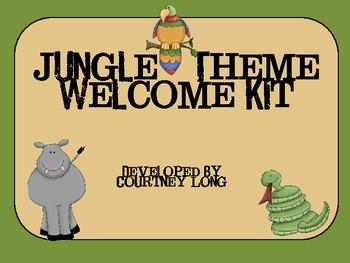 Jungle Classroom Welcome Kit