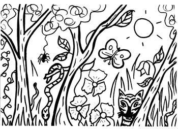 Jungle Coloring Sheet
