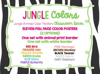 Jungle Theme Classroom Colors {Classroom Decor Posters}