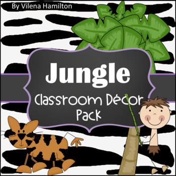 Jungle Classroom Decor Set ~Editable~