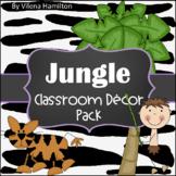Jungle Classroom Decor Editable