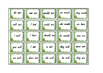 Jungle Contractions Game