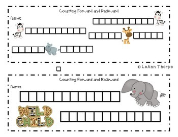 Jungle Counting:  Forward and Backward