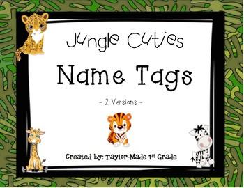 Jungle Cuties Name Tags
