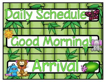 Jungle Daily Schedule *Editable*
