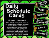 Jungle Daily Schedule Cards