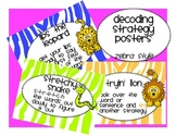 Jungle Decoding and Reading Strategy Focus cards in 3 sizes and bookmarks