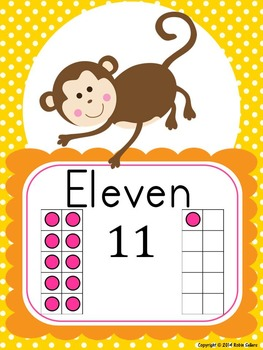 Jungle Decor: Word Wall, Number Sense Posters, Word Labels, Table Numbers & More