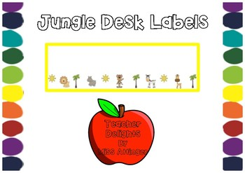 Jungle Desk and Tote Tray Labels