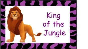 Jungle Disney Behavior Chart