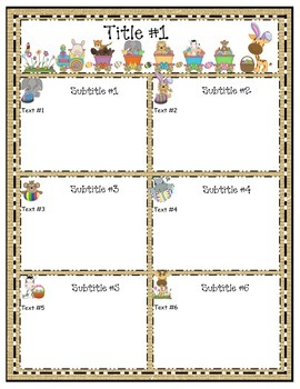 Jungle Editable April Easter Newsletter