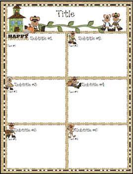 Jungle Editable August-April Newsletter Bundle