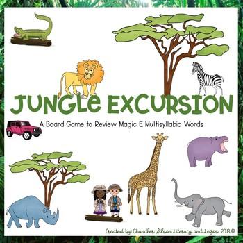Jungle Excursion Board Game (Multisyllabic Words with Magic e Syllables)