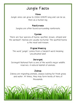 Jungle Fact Cards