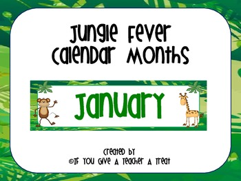 Calendar Months- Jungle Fever