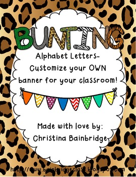 Jungle Fever Funky Buntings- Customize Your Own Banner!