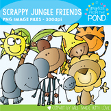 Scrappy Jungle Friends Clipart
