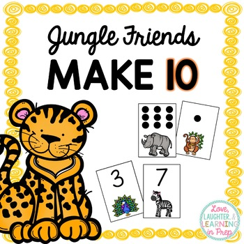 Jungle Friends Make 10! A differentiated game to practice making pairs to ten