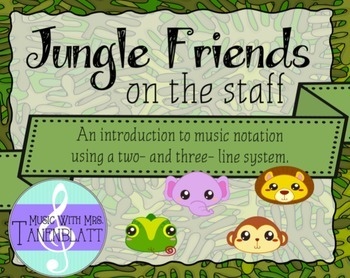 Jungle Friends on the staff