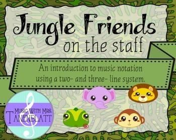 Jungle Friends on the staff