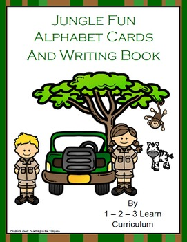 Jungle Fun Alphabet Cards and Wiring Book