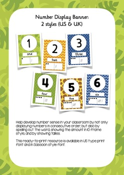 Jungle Fun Classroom Decor Bundle {Editable!} UK & US fonts!