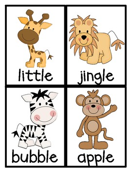 Jungle Fun! Consonant + le Literacy Centers